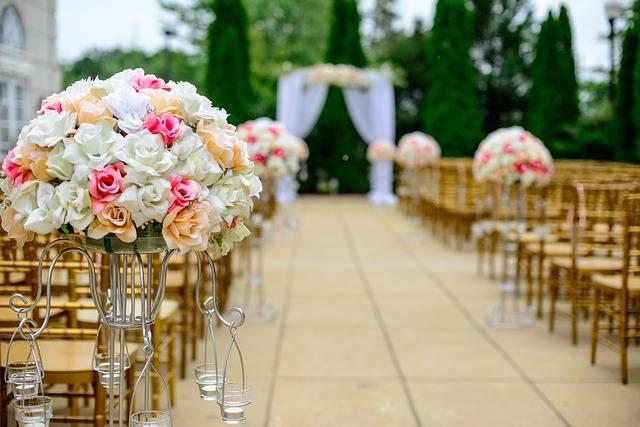 Fleurs et décoration pour mariage en partenariat avec Olivier Malingréau RMO